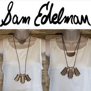 Sam Edelman adjustable layered statement necklace